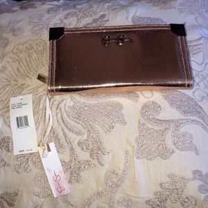 NWT JessicaSimpson gorgeous Rosegold wallet clutch